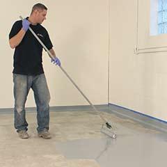 Solid Color Polyurea Floor Coating Installation Augusta