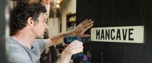 Putting Up Man Cave Sign